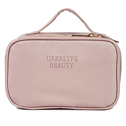 UberLyfe Travel Cosmetic Pouch Makeup Pouch Perfect for Carrying Makeup Kit  Makeup Lip pencils 48ffcd82af