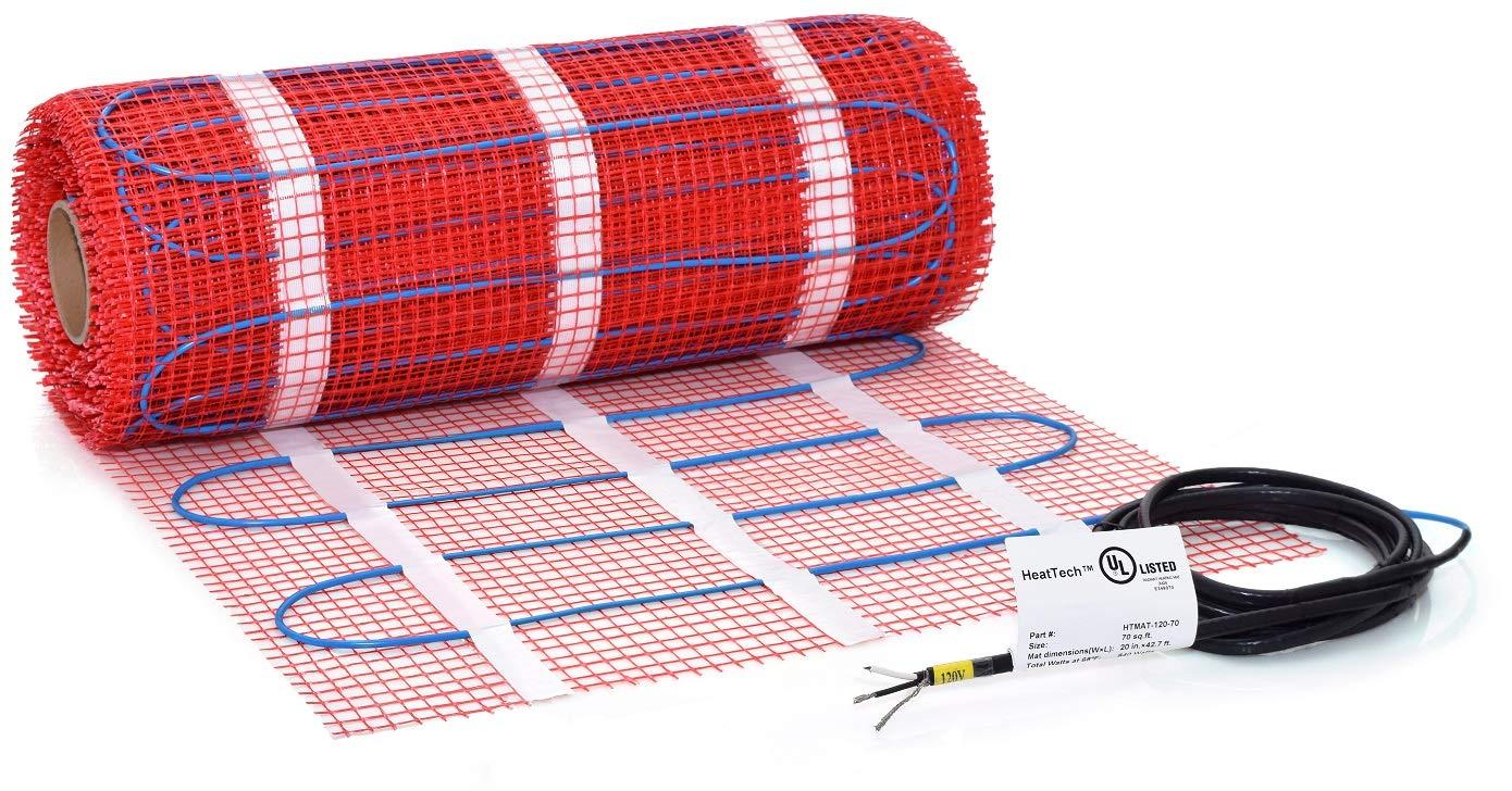80 sqft HeatTech 120V Electric Tile Radiant Floor Heating Mat