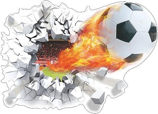 aiqi 3d vinilo adhesivo de pared de fútbol de balón de fútbol ...