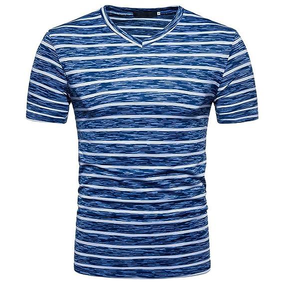 Camiseta para Hombre, ❤️Xinan Chaleco Blusa Tops Masculino Manga Corta Militar de la Moda Ropa Deporte Hombre de Hombre Entrenamiento Fitness,Gimnasio ...