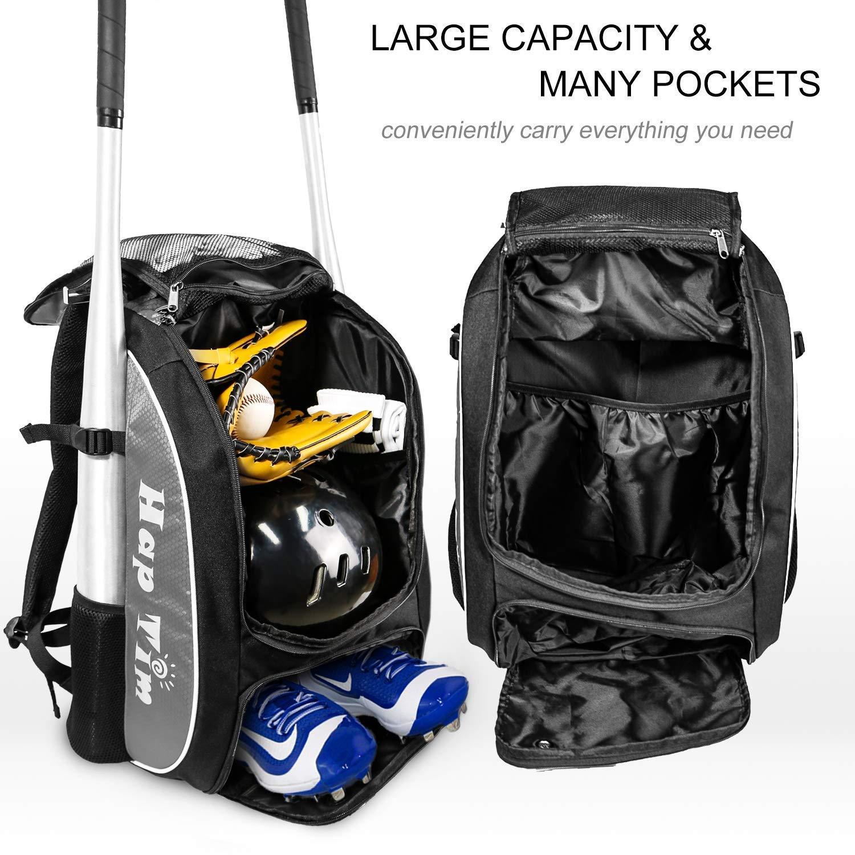 Amazon.com: Hap Tim Baseball Bag/Softball Bag - Bat Bag Backpack for Kids Girls Youth Adults -Large Capacity Baseball/Softball Backpack with Separate Shoe ...