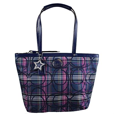461d97faa17 Image Unavailable. Image not available for. Color  COACH Poppy Signature  Tartan Tote ...