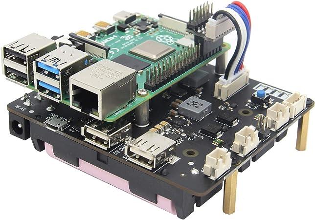Geekworm Raspberry Pi Ups Raspberry Pi 4b 3b 3b 18650 Usv Safe Shutdown Power Management Expansion Board X750 Shield Mit Auto Power On Für Raspberry Pi 4 Modell B 3b 3b Only X750 Board Amazon De