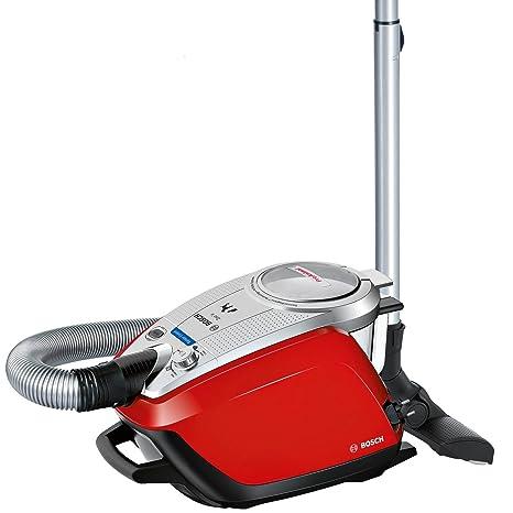 Bosch BGS5335 Zooo ProAnimal - Aspirador sin bolsa especial mascotas, tecnología SensorBagless, 800 W, con auto limpieza del filtro, color rojo
