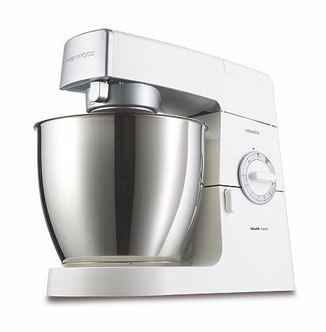 Kenwood KM636 Robot de cocina Classic Major, batidora amasadora, 900 W, metal, color blanco