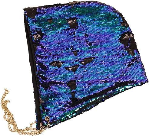 NiceButy Rave Capuche Sir/ène /à Paillettes Unisexe Chapeau Magique R/éversible Paillettes Caches F/ête dhalloween No/ël D/éco Danse Chapeau Faveurs Glitter Bling Capuche Casquette Sequin Noir X 1