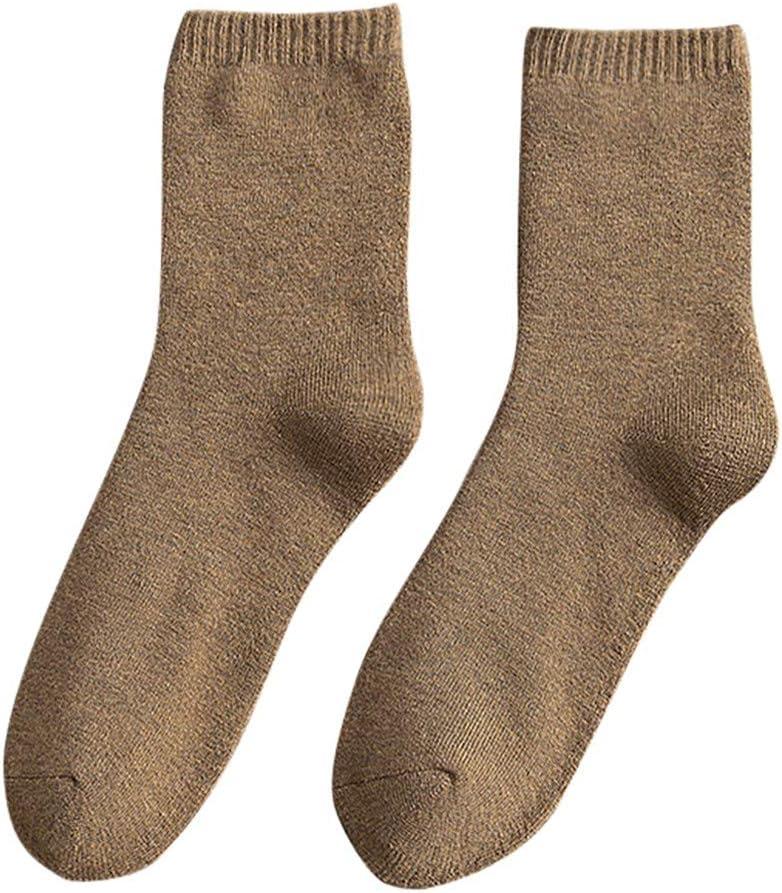 BEIGAIXLSBZ Unisex Wool Socks Winter Athletic Socks Crew Sock Warm Hiking Merino Wool Socks Soft Thick Mid Calf
