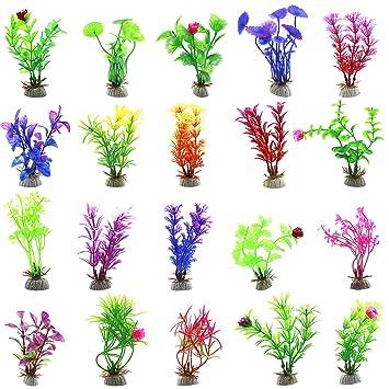 Purple Tree Plants Aquarium Fish Tank Water Grass Artificial Flower Decorations