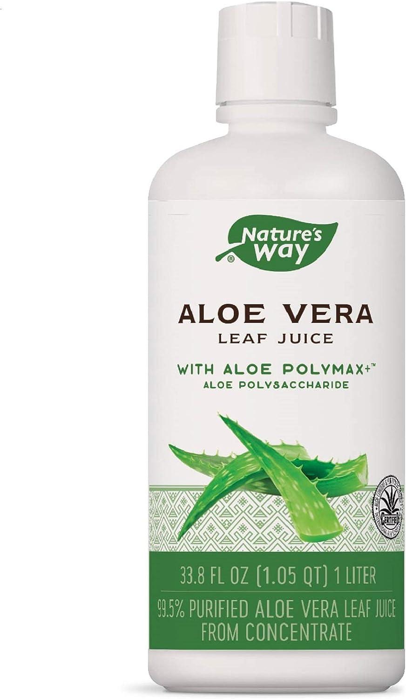 Nature's Way Premium Quality Aloe Vera Leaf Juice 99.5% Purified Aloe Vera Leaf Juice, 33.8 fl oz.