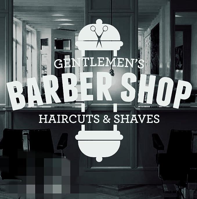 Barber Shop Decal Sticker Barber Shop Window Decal Large Decal Barbershop window sticker Business Decal Barbershop Window Decal