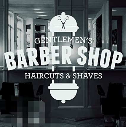 Barber shop vinyl window sticker decal hair dressers