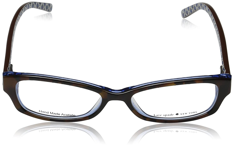 6c9b8287dd82 Amazon.com: Kate Spade Sheba Eyeglasses-0JZM Tortoise Royal Blue-51mm:  Clothing