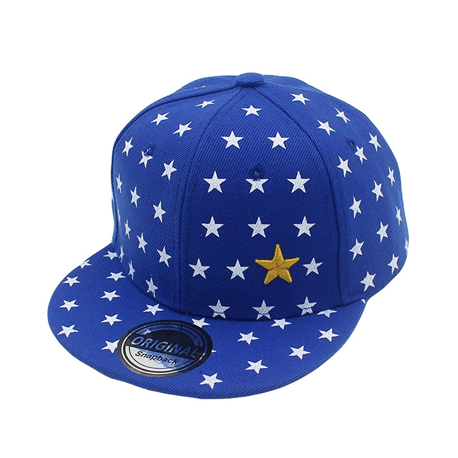 Boys Girls Baseball Cap Five-pointed Star Design Outdoor Sports Hat