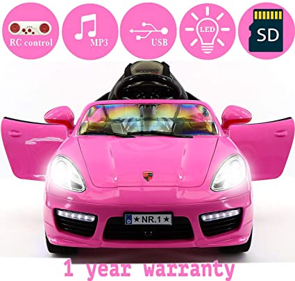 f83f2013356 Amazon.com  2018 PORSHE BOKSTER STYLE 12V ELECTRIC KIDS RIDE-ON CAR ...