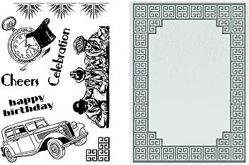 8.4x8.6x0.1 cm Rosey Frame Black Ultimate Crafts Impression Die