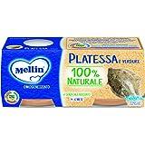 Mellin Omogeneizzato di Platessa e Verdure 100% Naturale – 24 Vasetti da 80 gr