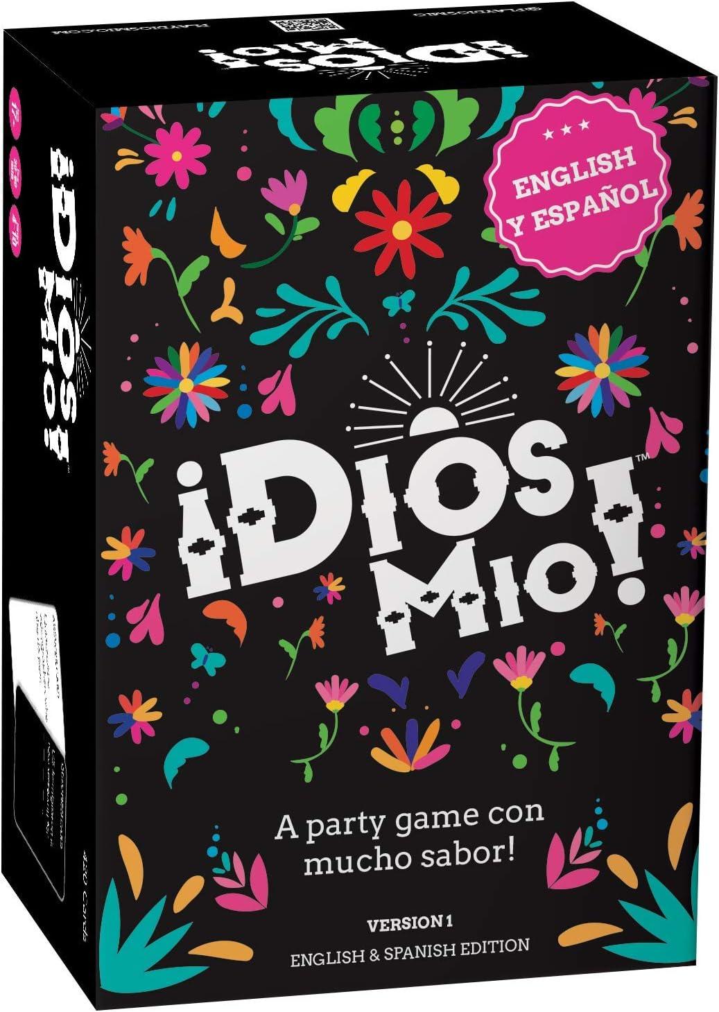 FITZ - ¡Dios Mio! Bilingual Fun Card Game - Juegos de mesa en español - A Comedy Party Tarjeta Game NSFW - 420 Muy Graciosa Cards - Spanish Board Game