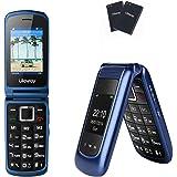 Uleway 3G Flip Phone Unlocked SOS Button Dual Screen Tmobile Flip Phone Dual Battery Basic Cell Phone for Senior&Kids…