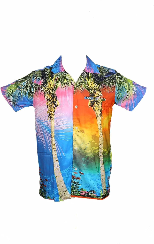 SAITARK Camisa Hawaiana para Hombre, Estampado Digital, para la Playa, Fiestas, Verano y Vacaciones - 2XL - Palm: Amazon.es: Ropa y accesorios