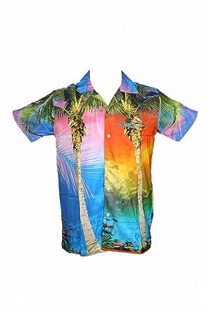 458c21d75 SAITARK Mens Hawaiian Shirt STAG Beach Hawaii Aloha Party Summer Holiday  Fancy Digital: Amazon.co.uk: Clothing