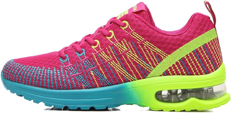 Zapatos de Running para Hombre Mujer Zapatillas Deportivo Outdoor Calzado Asfalto Sneakers Negro Rojo Gris 35-46