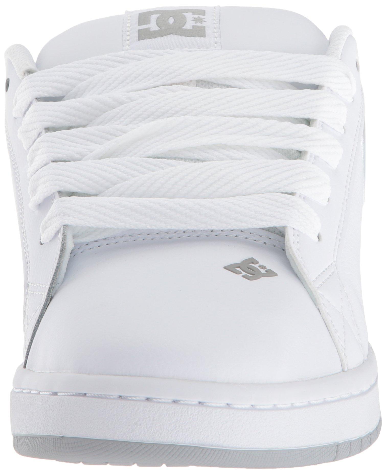 DC Men's Court Graffik SE Skate Shoe White Grey, 15 Medium US by DC (Image #4)