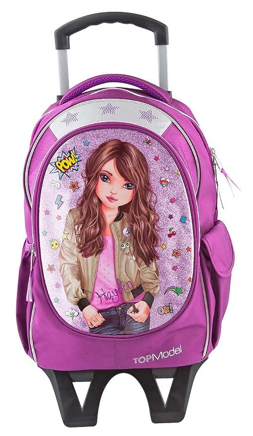 Depesche 6764 Mochila Escolar con ruedas TOPModel, Friends, color rosa