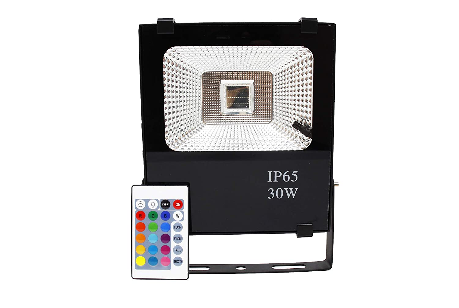 FactorLED Foco Proyector Exterior LED 30w RGB Profesional, incluye ...