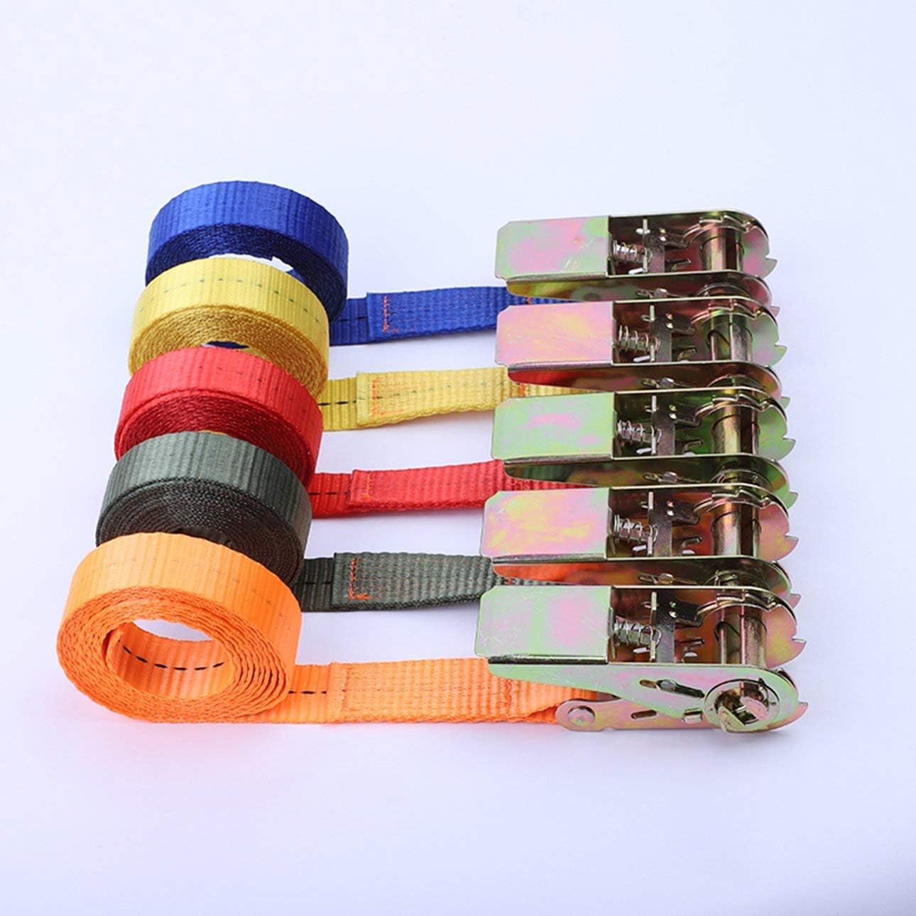 Pudincoco sangles de fixation pour ceinture de s/écurit/é pour voiture moto v/élo avec corde de remorquage en m/étal forte ceinture /à cliquet pour sac de bagages