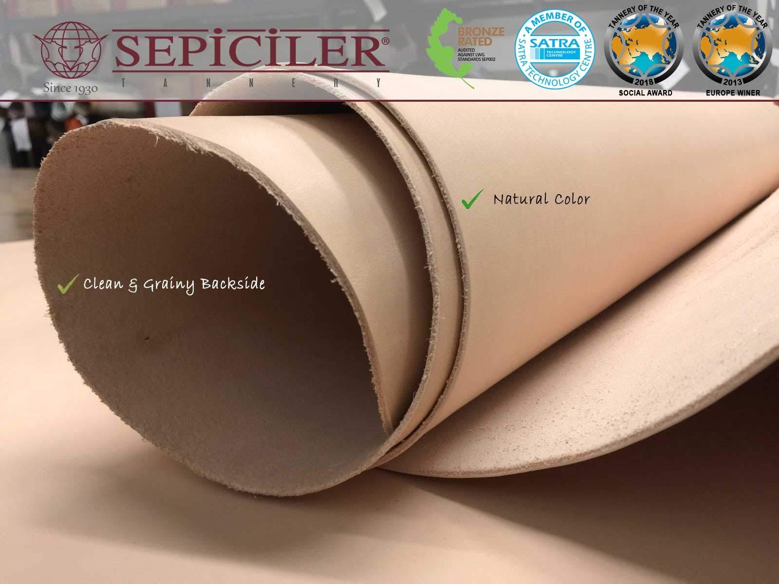 Import Tooling Veg Tan Single Cowhide Leather Shoulder 8/9 oz.4-6 SQF