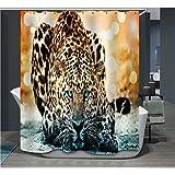 Cortina de ducha de la hermosa impresión digital Impermeable y resistente a los muros Cortina de