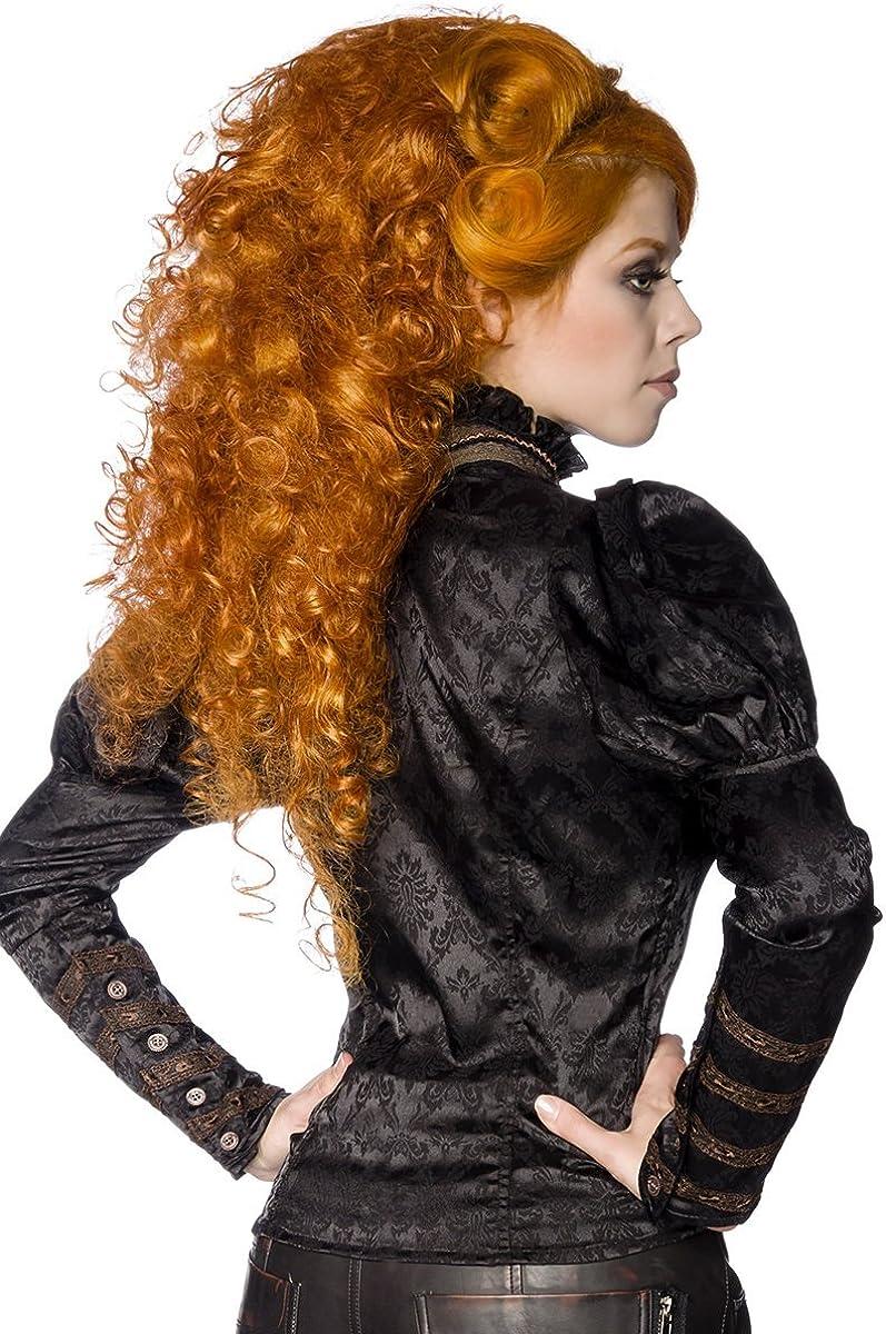 STEAMPUNK STYLE Blouse Long Sleeve Black Black - Black