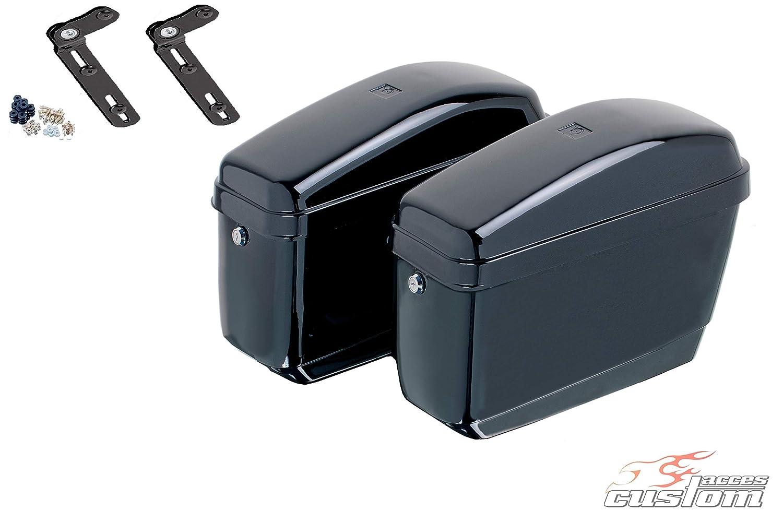 08-09 RC50//08 je 12L Customacces AZ0679N Seitenkoffer Easy Honda VT 750 C Shadow Paar