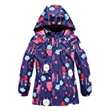 unbrand Lightweight Breathable Waterproof Raincoat for Girls Windbreaker Reflective Girls' Rain Jacket with Hooded