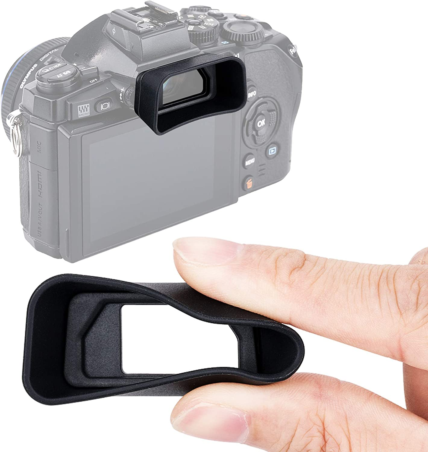 Long Eyecup Eyepiece Viewfinder for Olympus OM-D E-M1 Mark II /& E-M1 Replaces Olympus EP-13 EP-12 Eye Cup