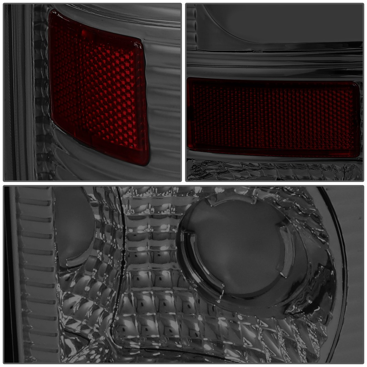 DNA Motoring TL-F15097-LED-3D-SM-G2 Pair Chrome Housing Smoked Lens 3D LED Tail Lights For 97-07 Ford F150-550