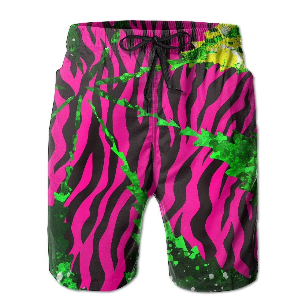 Newest - Man Jams Summer Quick Dry Board Shorts - Black Red Leaf Weed