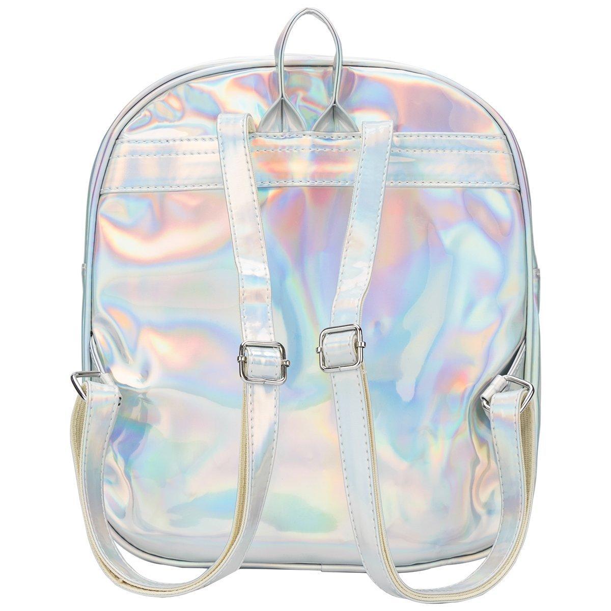 Girls Kawaii Bling Transparent Love Star School Bag Backpack (Star-Silver) by XSCOMSPORT (Image #3)