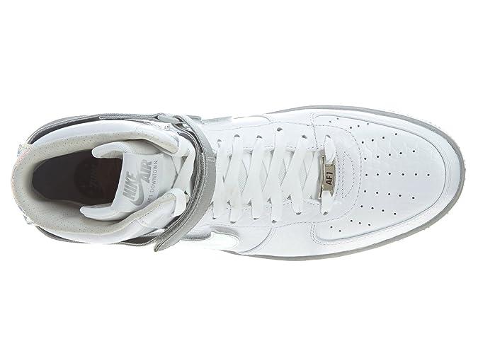 sale retailer a9e14 b5eff Nike Air Force 1 Downtown HI LW QS Mens Sneaker White 632 360 100, Size 44   Amazon.co.uk  Shoes   Bags
