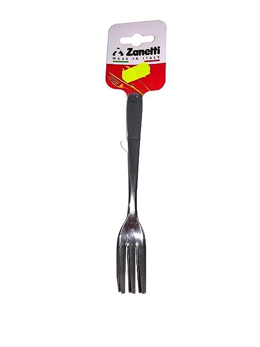 Zanetti Juego 6 tenedores de postre inoxidable Monica