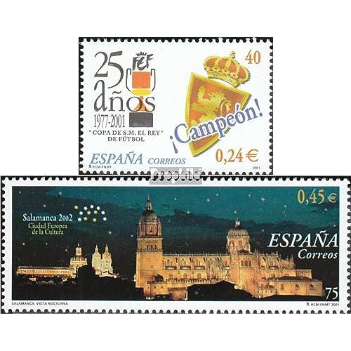 Espagne 3641,3649 (complète.Edition.) 2001 tournoi de football, salamanque (Timbres pour les collectionneurs)