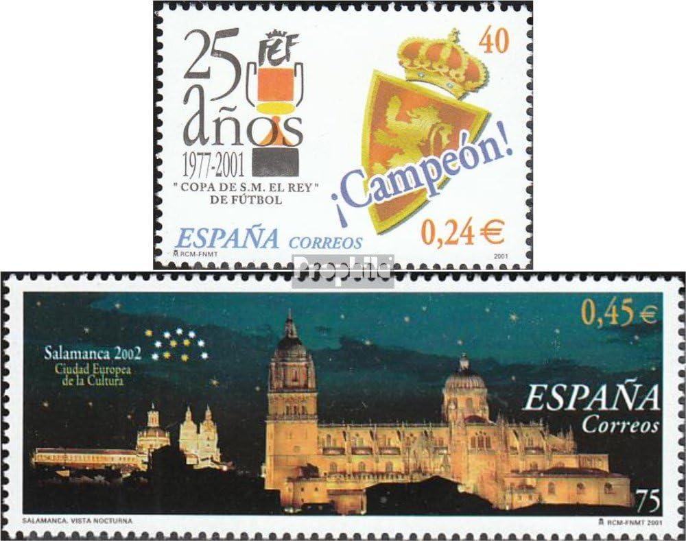 Prophila Collection España Michel.-No..: 3641,3649 (Completa.edición.) 2001 Fútbol, Salamanca (Sellos para los coleccionistas) fútbol: Amazon.es: Juguetes y juegos