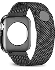 jwacct Compatible for Apple Watch Band with Screen Protector 38mm 40mm 42mm 44mm, Soft TPU Frame Case Cover Bumper Compatible for iwatch Series 1/2/3/4/5