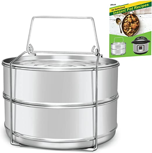 Sensible Needs Vegetable Steamer Basket Set Steamer Insert For Instant Pot Egg Rack Standard Stainless Steel Pressure Cooker /& Instant Pot Accessories Safety Tool Pot In Pot 100/%
