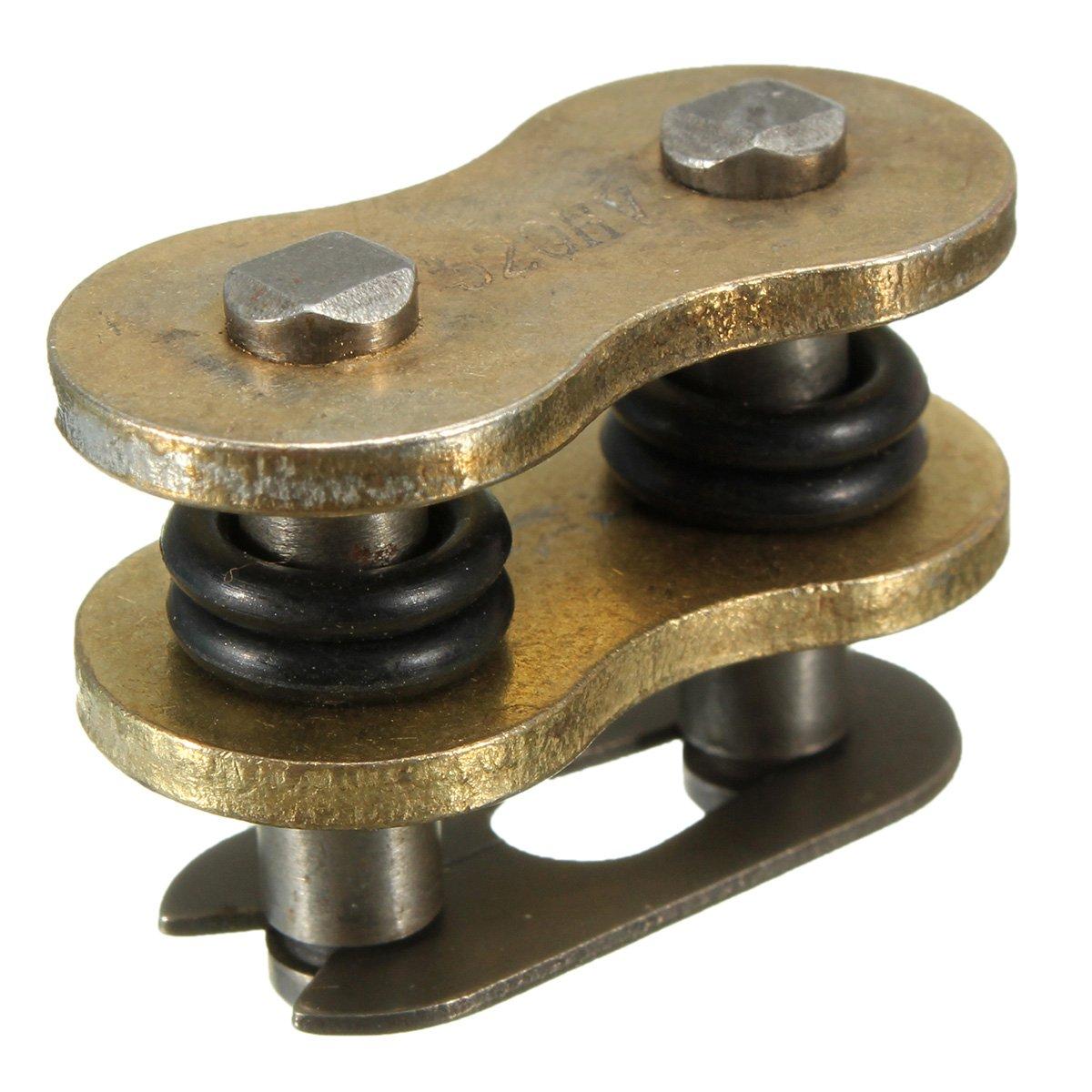 Globalflashdeal O Ring Collegamento Maestro Catena Collegamento Oro Diviso//Clip per 520H Did 520 VX2