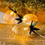 GIGALUMI 15ft 20 LED Pineapple String Lights, Fairy String Lights Battery Operated for Patio Home Wedding Party Bedroom Birth