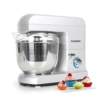 Klarstein Gracia Argentea • Robot de cocina • Batidora • Amasadora • 1000 W • 5