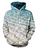NEWISTAR Felpe con cappuccio unisex 3D Pullover uomo donna con stampe animali galaxy Cerniera Tasche Felpa S-3XL