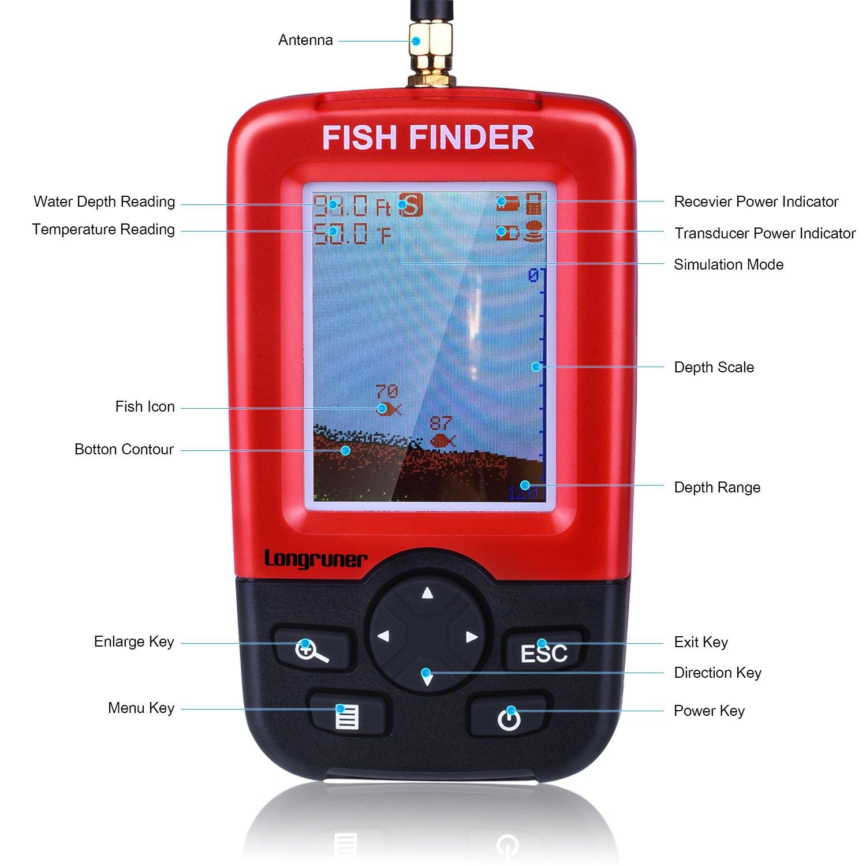 Amazon.com: Longruner Fish Finder Portable FishTrax Electronic ...