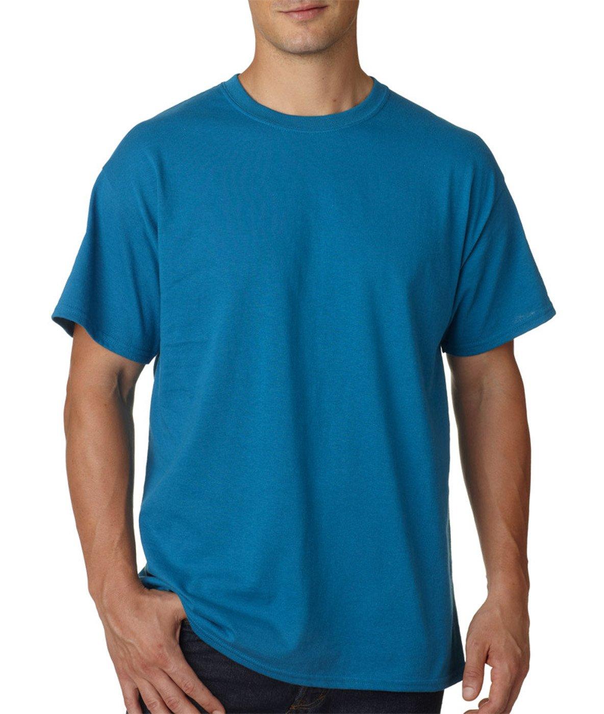 (ギルダン) Gildan メンズ ウルトラコットン クルーネック 半袖Tシャツ トップス 半袖カットソー 定番アイテム 男性用 B01FDZB2QM Large|Galapogos Blue Galapogos Blue Large